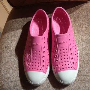 Native Jefferson Pink Slip On Flats